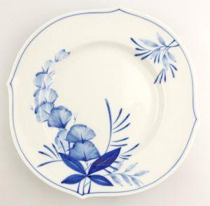 #e4337 Meissen Porzellan Teller / Essteller Wellenspiel Pur Kobaltblau 1. Wahl