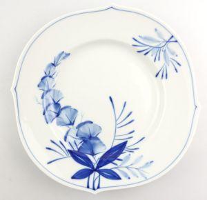 #e4336 Meissen Porzellan Teller / Essteller Wellenspiel Pur Kobaltblau 1. Wahl