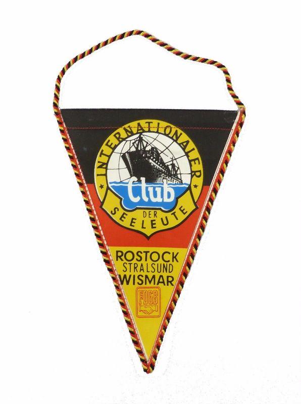 #e7128 Original alter Wimpel DDR Club der Seeleute Rostock Stralsund Wismar FDGB