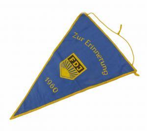#e7127 Original alter Wimpel DDR zur Erinnerung Wanderpokal 1960 FDJ defekt