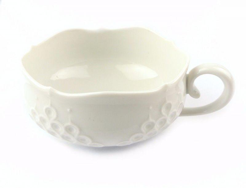 #e7119 Meissen Porzellan Tasse / Teetasse 2. Wahl mit dekorativem Relief