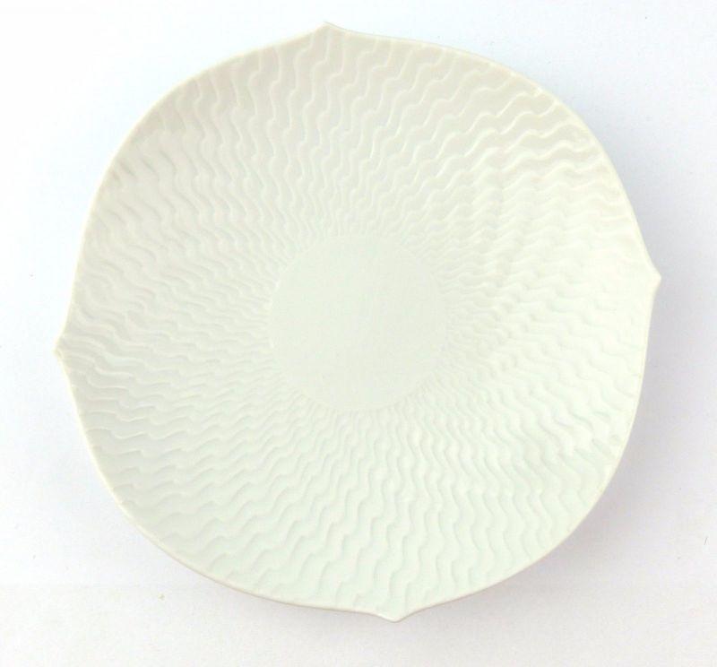 #e7116 Meissen Teller / Untertasse Ø 15,5 cm weiß Wellenspiel 1. Wahl