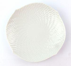 #e7112 Meissen Teller / Untertasse Ø 15,5 cm weiß Wellenspiel