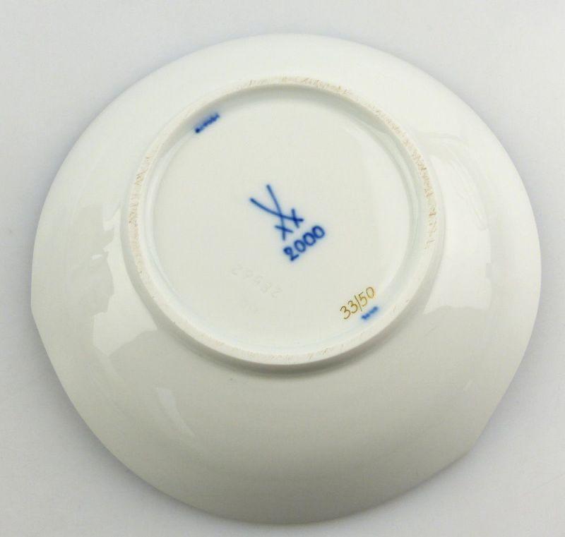 #e4325 Meissen Porzellan Tasse mit Untertasse Robinie kobaltblau, 1. Wahl 2