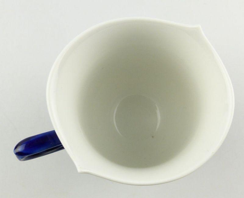 #e4325 Meissen Porzellan Tasse mit Untertasse Robinie kobaltblau, 1. Wahl 4
