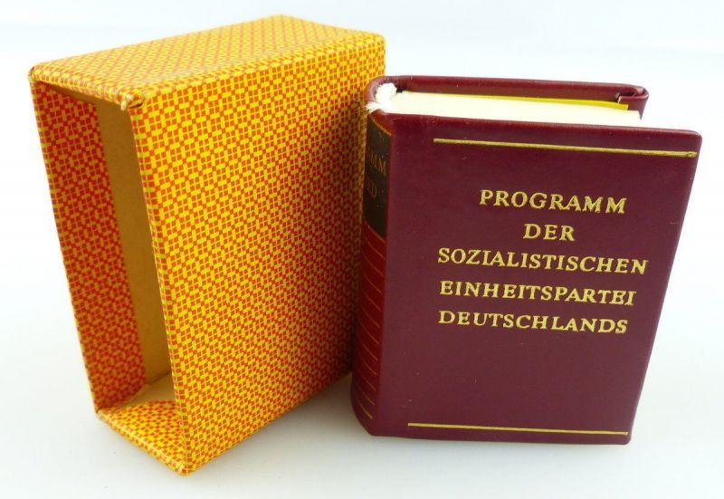 Minibuch : Programm der SED, Dietz Verlag Berlin 1982 /r608
