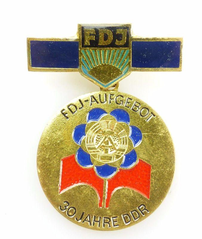 #e5279 DDR Abzeichen: FDJ - Aufgebot 30 Jahre DDR