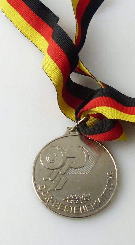 Medaille : DDR - Bestenermittlung Deutscher Gewichtheber Verband der DDR / r343