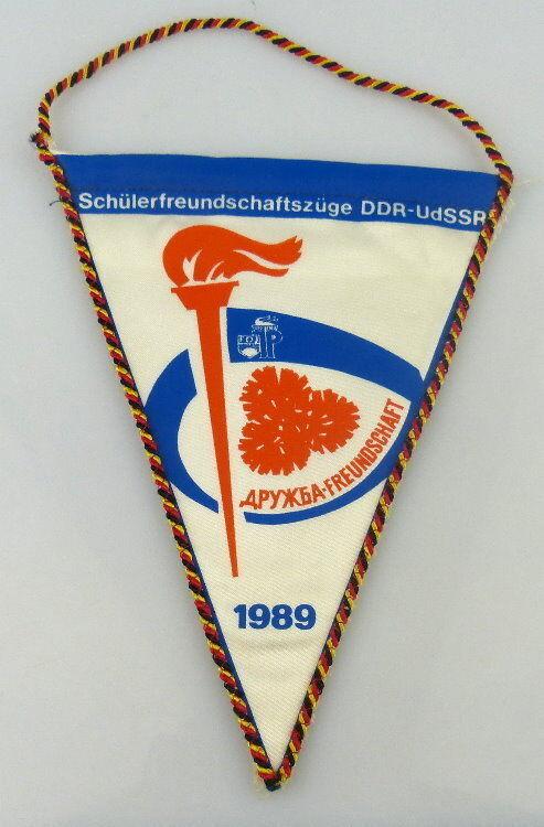 Wimpel: Schülerfreundschaftszüge DDR - UdSSR Freundschaft 1989 / r003