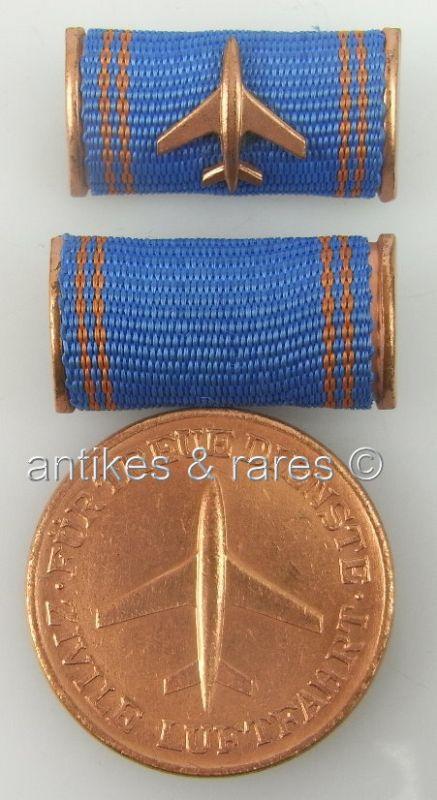 DDR Medaille für treue Dienste in der zivilen Luftfahrt in Bronze, 5 Dienstjahre