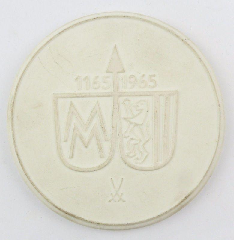 #e8106 Meissen Medaille MM 1165-1965 800 Jahre Leipzig 1965 DDR