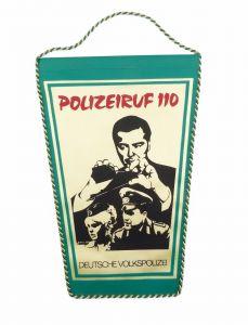 #e6067 DDR Wimpel Deutsche Volkspolizei Polizeiruf 110 DDR Fernsehen