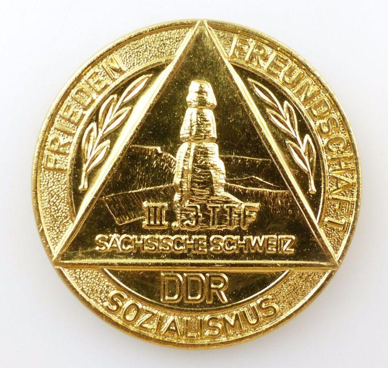#e5275 Abzeichen: III.  JTTF Sächsische Schweiz DDR Sozialismus Frieden