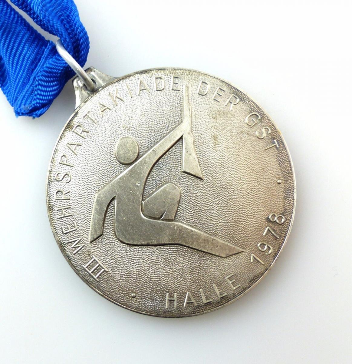 #e5668 DDR Medaille III. Wehrspartakiade der GST Halle 1978 Bestenermittlung