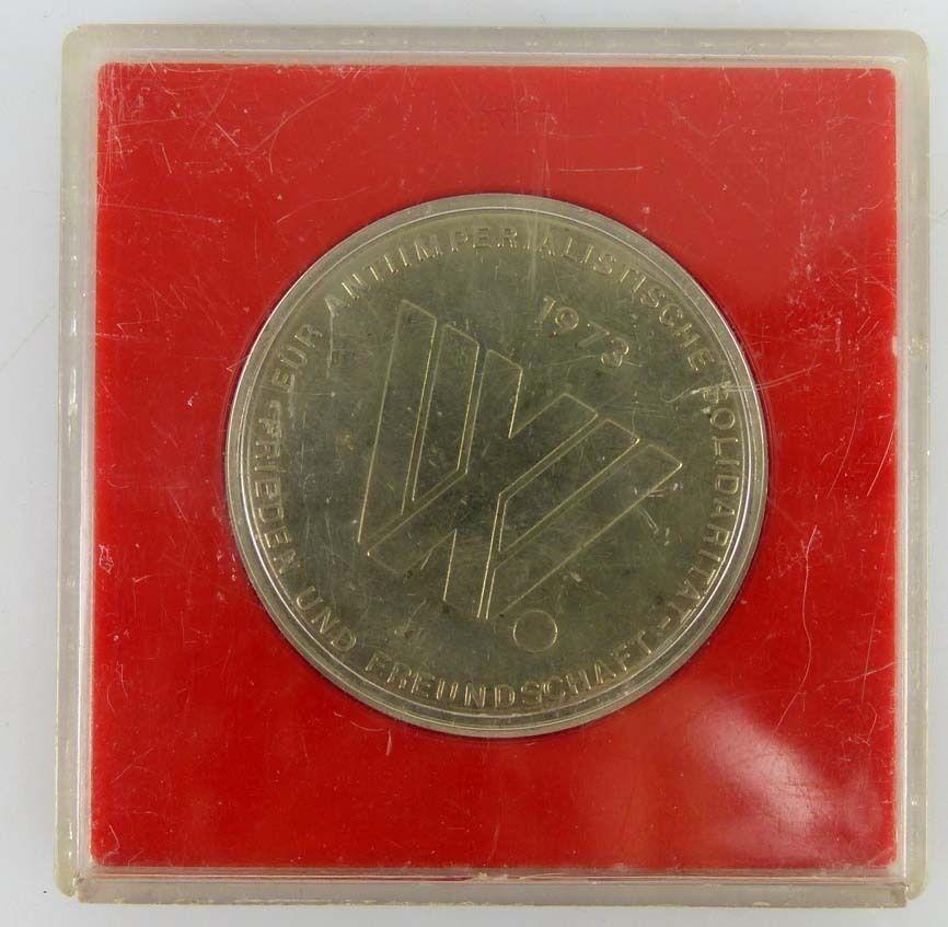 Medaille Weltfestspiele der Jugend und Studenten Berlin Hauptstadt der DDR 1973