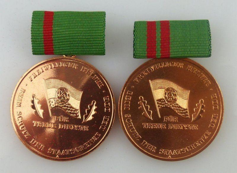 2 Medaillen: 5 & 10 Jahre treue Dienste freiwilliger Helfer bei Schutz der Staat
