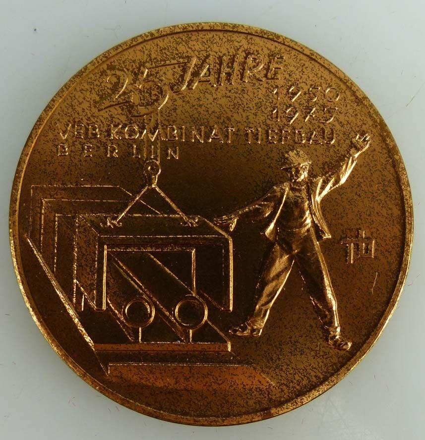 Medaille 25 Jahre 1950- 1975 VEB Kombinat Tiefbau Berlin