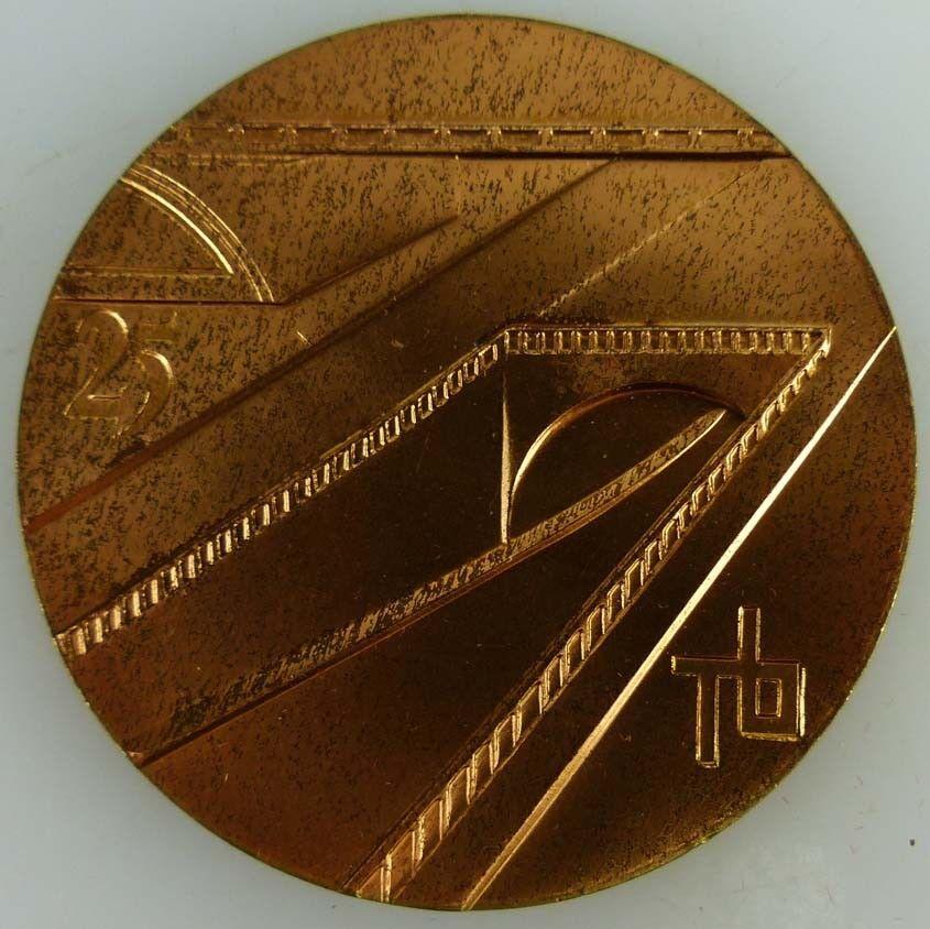 Medaille 25 Jahre 1950- 1975 VEB Kombinat Tiefbau Berlin 1