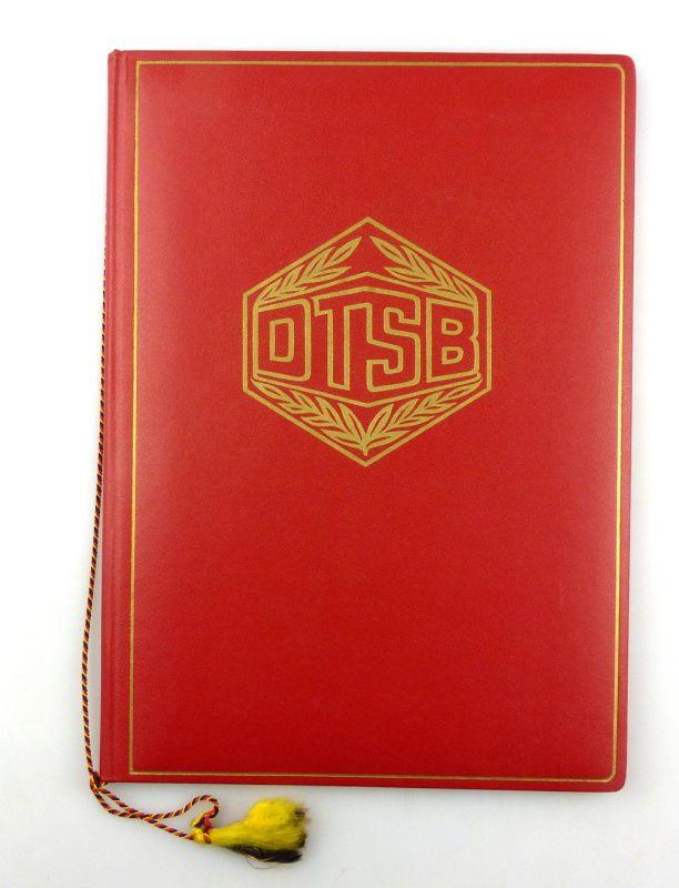 #e4303 Große rote DDR Urkundenmappe DTSB Deutscher Turn- und Sportbund