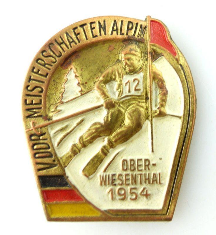 Abzeichen: V. DDR Meisterschaften Alpin Oberwiesenthal 1954 e1498