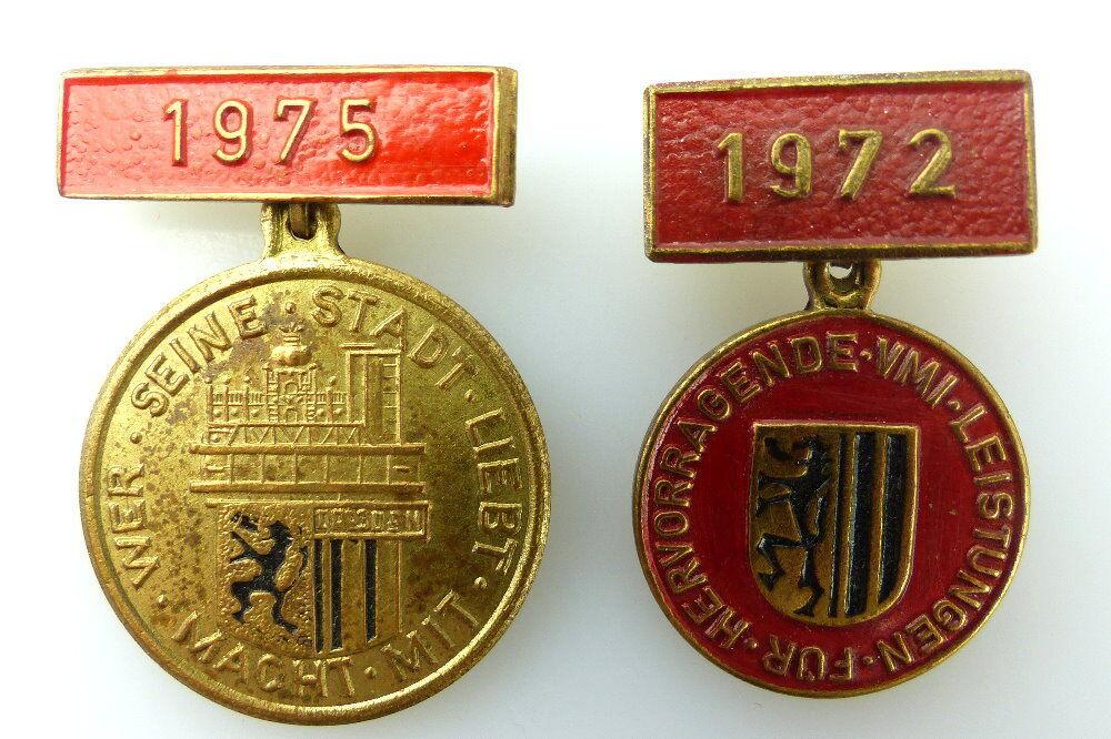 2 Abzeichen: 1975/ 1972 VMI Dresden für hervorragende Leistungen e1994