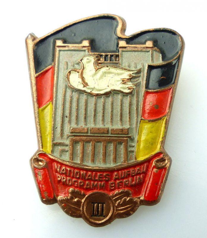 Abzeichen: Nationales Aufbauprogramm Berlin III. Stufe e1493