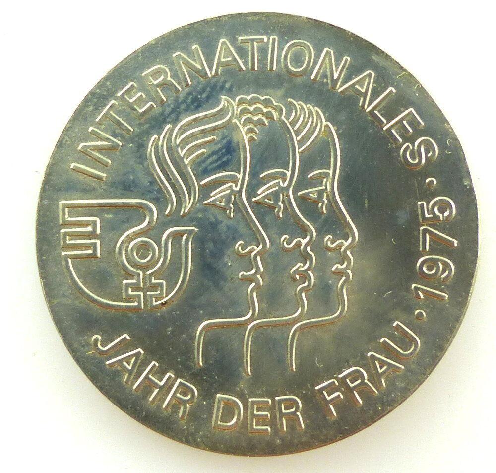 E4295 Medaille 5 Mark Münze Internationales Jahr Der Frau 1975