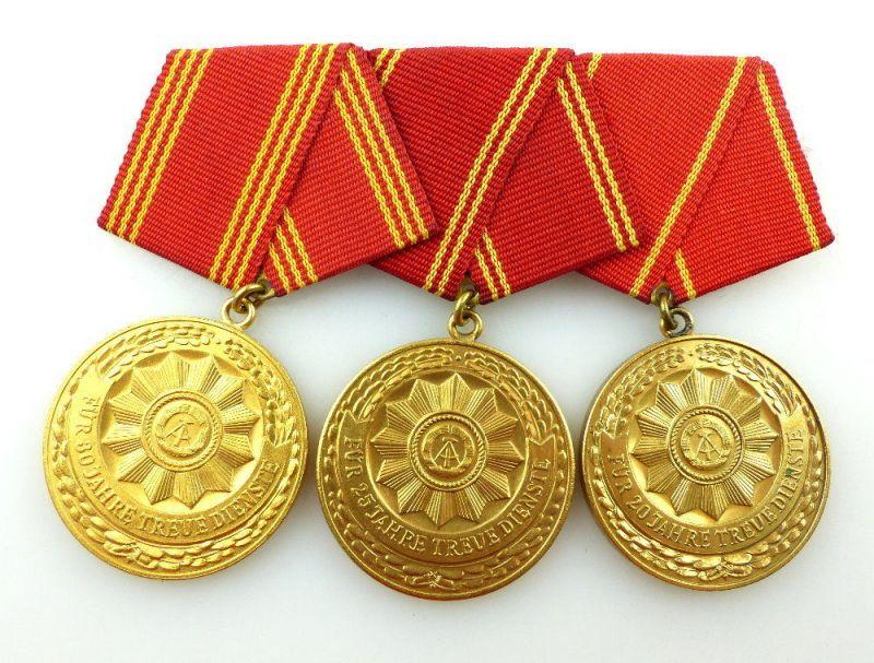 #e3416 DDR Ordenspange treue Dienste in den bewaffneten Organen des MdI in Gold 1