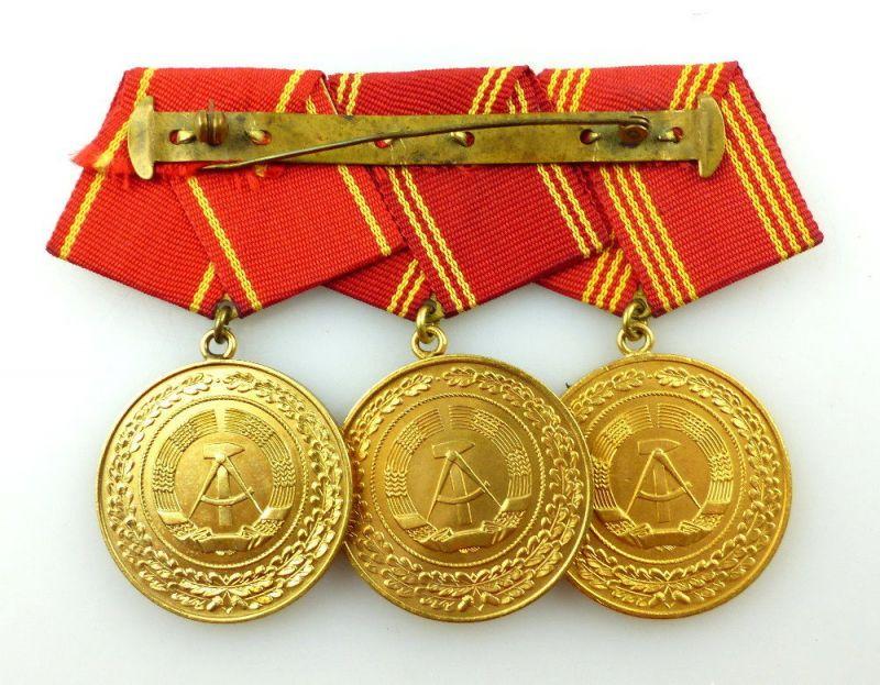 #e3416 DDR Ordenspange treue Dienste in den bewaffneten Organen des MdI in Gold 2