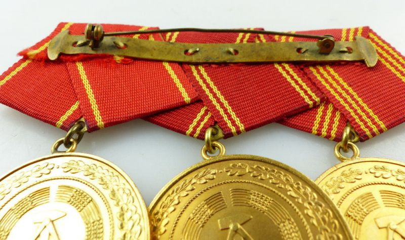 #e3416 DDR Ordenspange treue Dienste in den bewaffneten Organen des MdI in Gold 3
