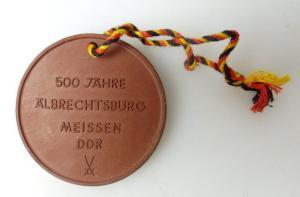 Meissen Medaille 500 Jahre Älbrechtsburg Meissen DDR 1471 bis 1971 bu0652