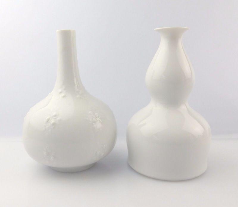 #e5235 2 dekorative Wallendorf Porzellan Vasen