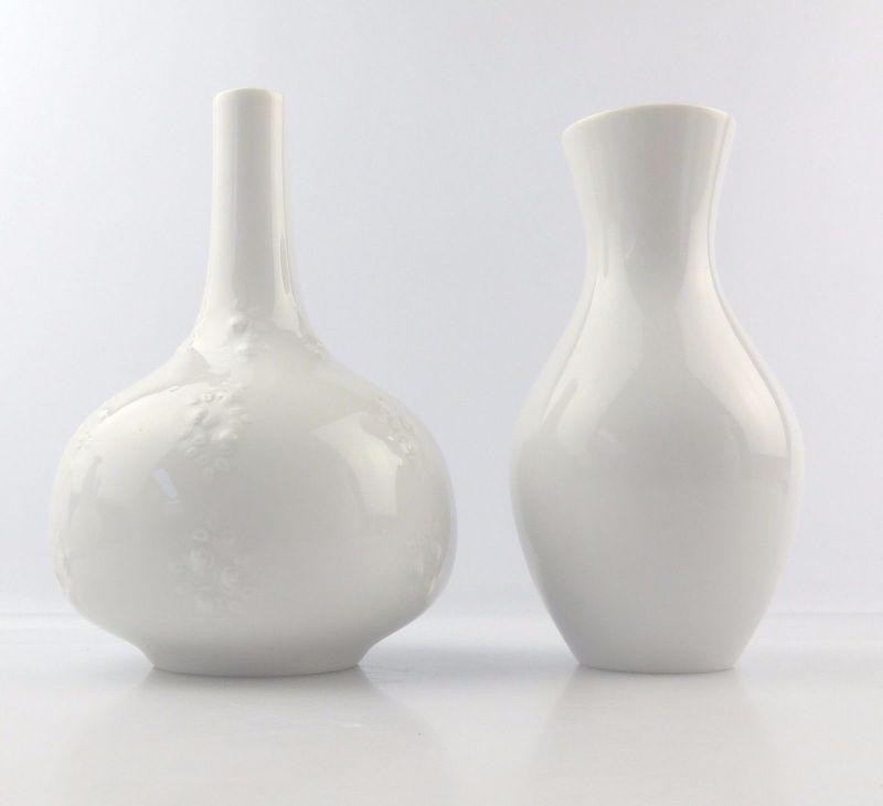 #e5233 2 dekorative Wallendorf Porzellan Vasen