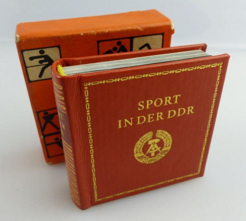 Minibuch : Sport in der DDR, Verlag Zeit im Bild Dresden 1980 e082