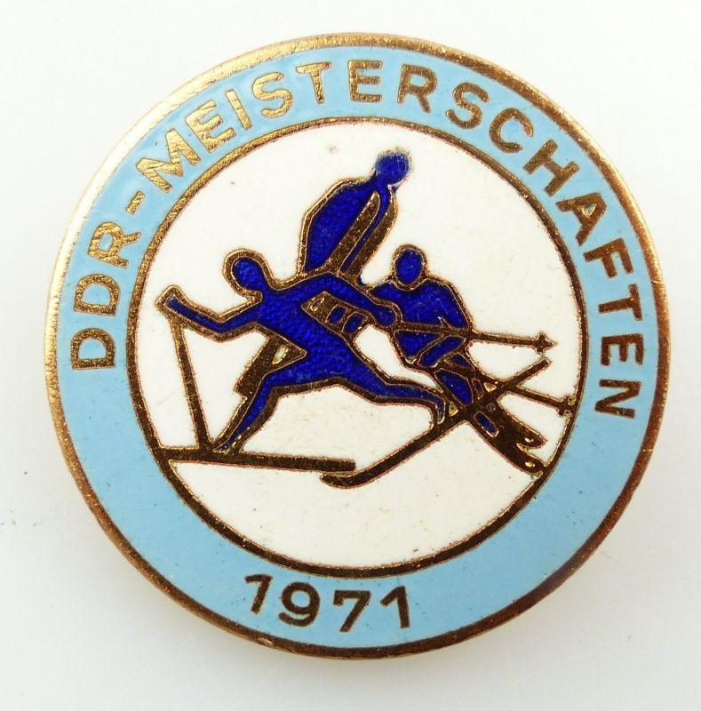 #e5638 Abzeichen DDR Meisterschaften 1971 Wintersport bronzefarben
