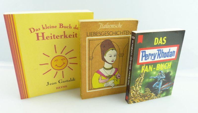 3 Minibücher: Das Perry Rhodan, Liebesgeschichten, Buch der Heiterkeit e393