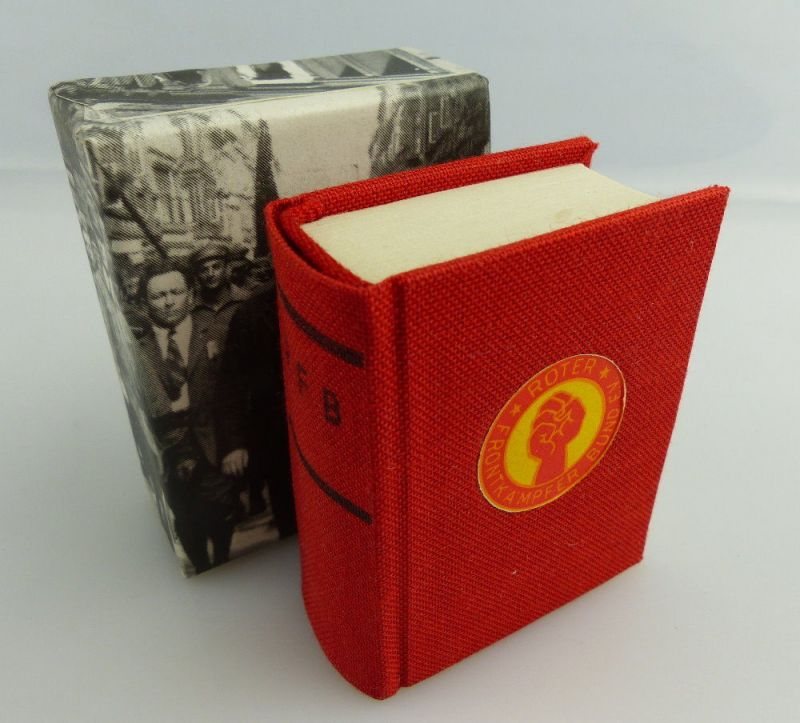 Minibuch: Roter Frontkämpfer Bund E.V. + RFB Berlin 1980 Rote Front SELTEN e078