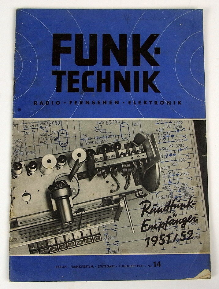 Zeitschrift: Funktechnik Nr. 14 von 1951