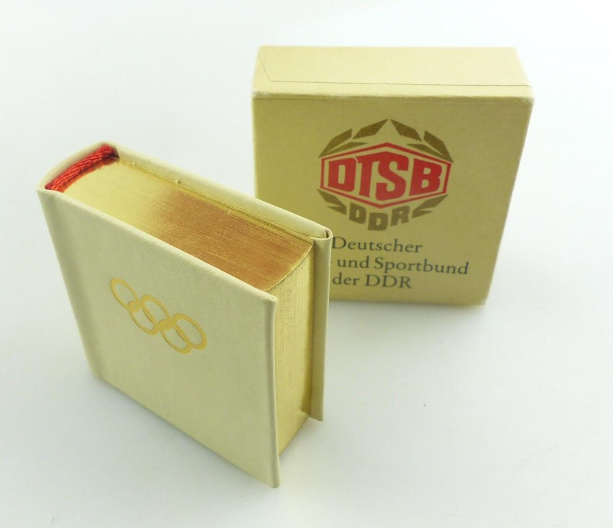 E9322 Nummeriertes Minibuch DTSB mit Vollgoldschnitt Olympische Spiele DDR