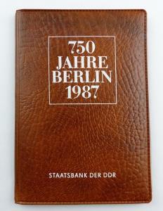 #e8693 Münz-Souvenir 750 Jahre Berlin DDR 1987 Staatsbank der DDR 5 Mark Münzen