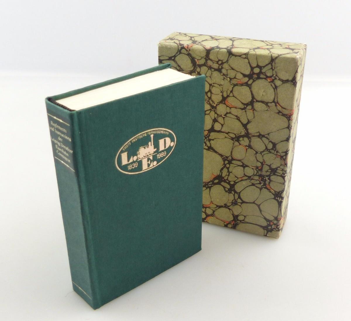 #e8240 Minibuch: Reglements und Instructions der Leipzig-Dresdner Eisenbahn Com.