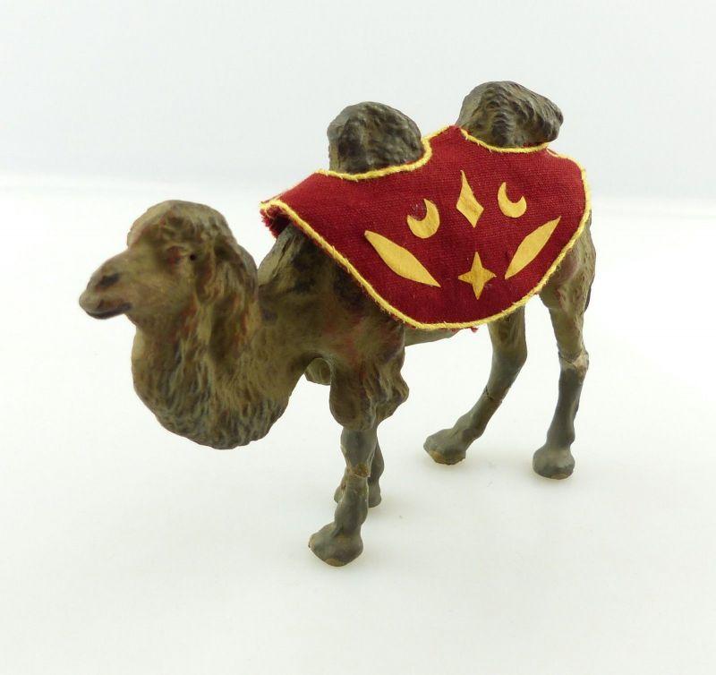 E9387 Lineol Tier Kamel mit Decke wohl 50er Jahre