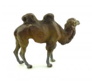 E9379 Antikspielzeug Tier Masse Figur Lineol Kamel wohl 50er Jahre