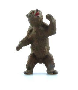 E9377 Antikspielzeug Tier Masse Figur Lineol wohl 50er Jahre Bär Braunbär