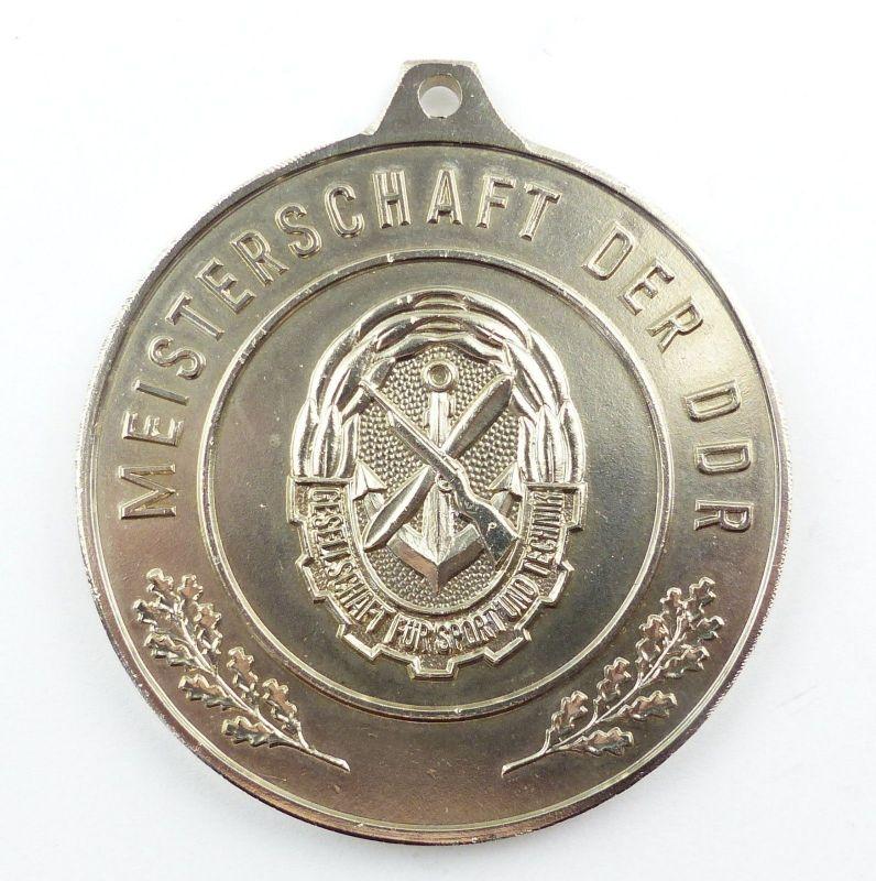 E9350 GST Medaille Meisterschaft der DDR silberfarben