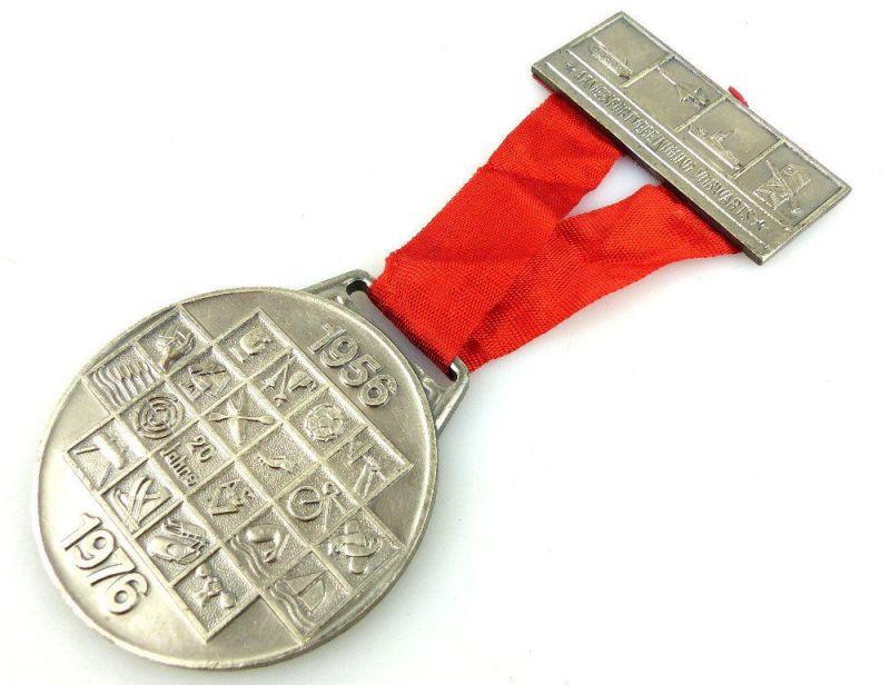 Medaille: 20 Jahre ASV Armeesportvereinigung Vorwärts 1956-1976 DTSB DDR e1734