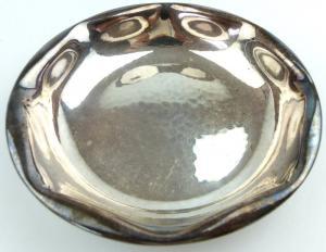#e2524 Kleine alte Schale aus massivem 800 (Ag) Silber