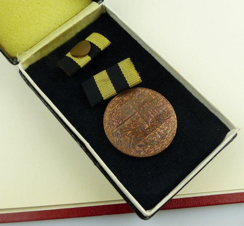 Medaille für Verdienste in der Kohleindustrie der DDR + Urkunde 1976 verl, so255 3