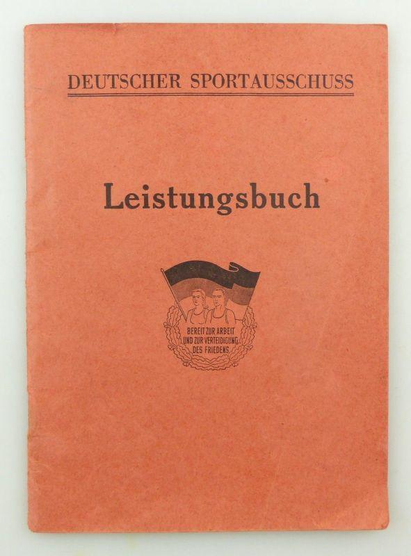 Original Leistungsbuch Deutscher Sportausschuss mit Eintragungen und Urkunde