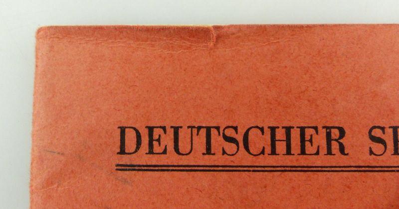 Original Leistungsbuch Deutscher Sportausschuss mit Eintragungen und Urkunde 2
